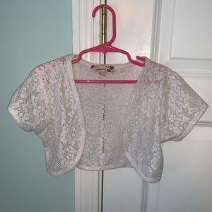 Girls lace bolero